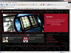 طراحی وبسایت هاروارد